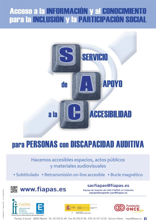 Cartel informativo del servicio de apoyo a la accesibilidad